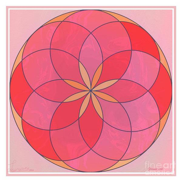 Mandala Poster featuring the digital art Flower 126 by Lawrence Nusbaum