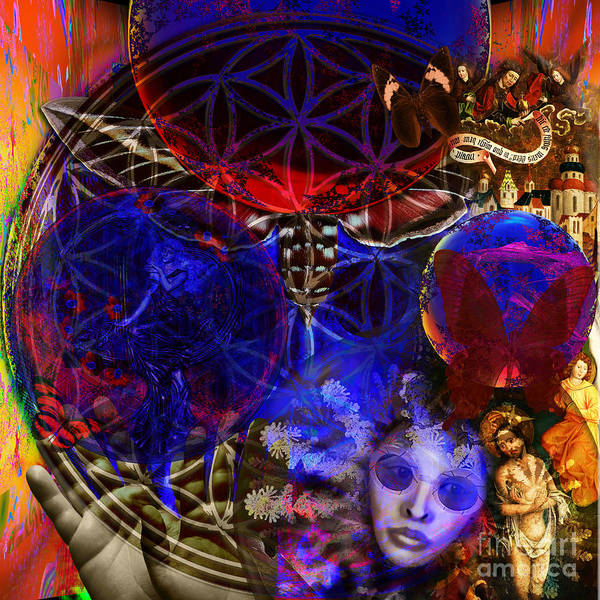 Fibonacci System Poster featuring the digital art Flower Of Creation by Joseph Mosley