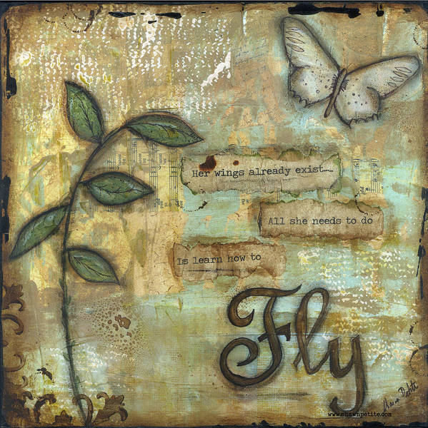 Fly Poster featuring the mixed media Fly by Shawn Petite