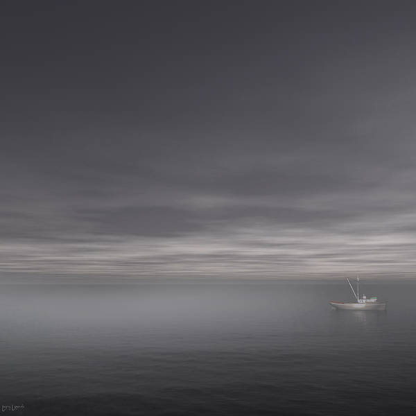Gray Art Poster featuring the photograph Foggy Stillness by Lourry Legarde