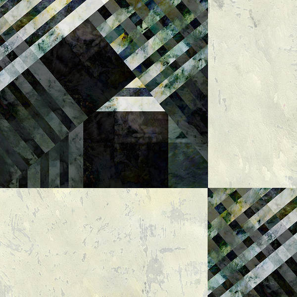 Abstractabstracts Poster featuring the digital art Fragmented Abstract Art by Ann Powell