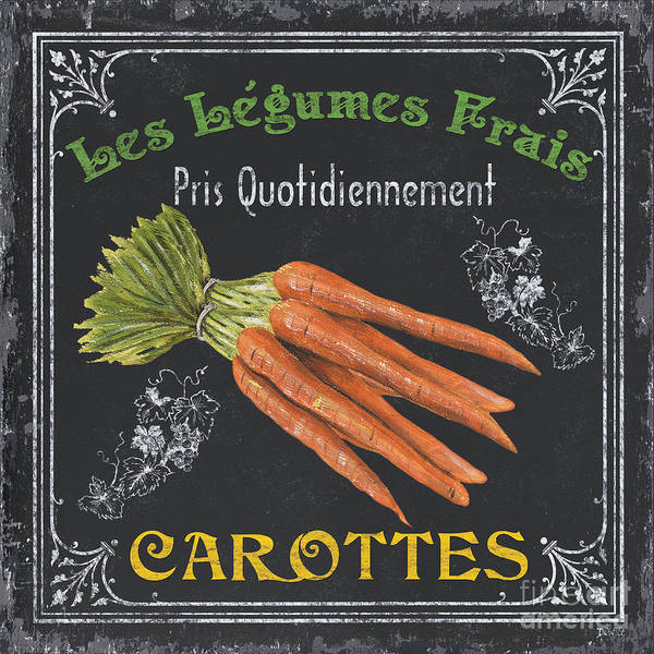 Produce Poster featuring the painting French Vegetables 4 by Debbie DeWitt