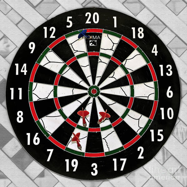 Photography Poster featuring the photograph Game Of Darts Anyone? by Kaye Menner