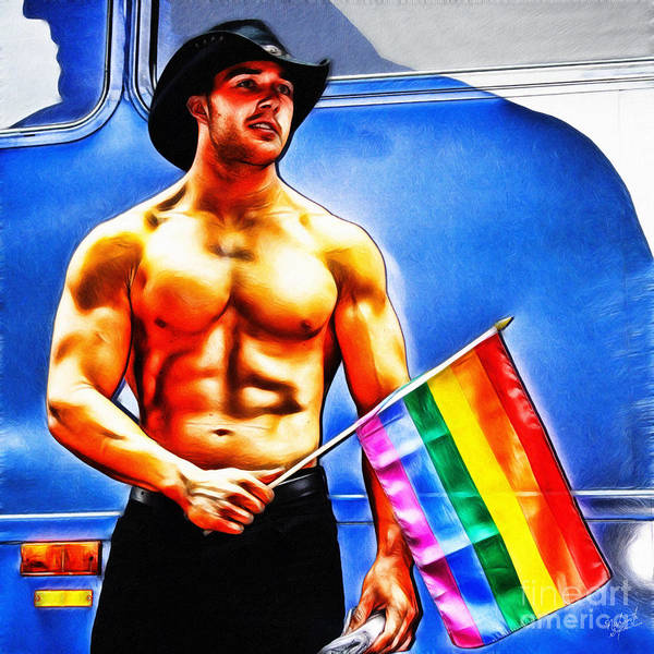 Gay Poster featuring the digital art Gay Pride by Nishanth Gopinathan