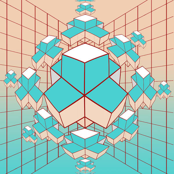 Contemporary Poster featuring the digital art Geometric2 by Mark Ashkenazi