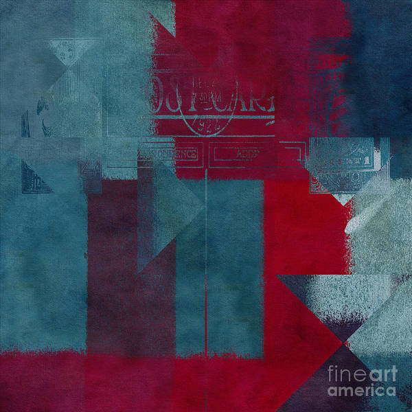 Abstract Poster featuring the digital art Geomix 03 - S330d05t2b2 by Variance Collections