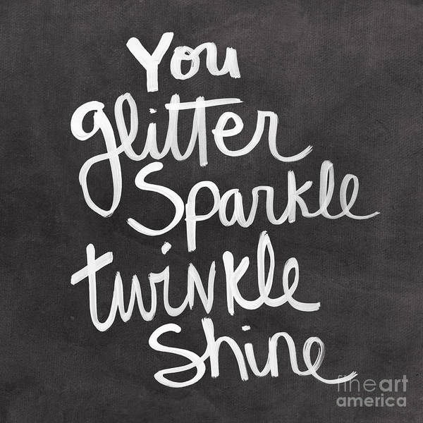 Glitter Poster featuring the mixed media Glitter Sparkle Twinkle by Linda Woods
