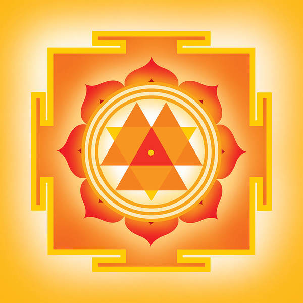 Yantra Poster featuring the digital art Goddess Durga Yantra by Soulscapes - Healing Art
