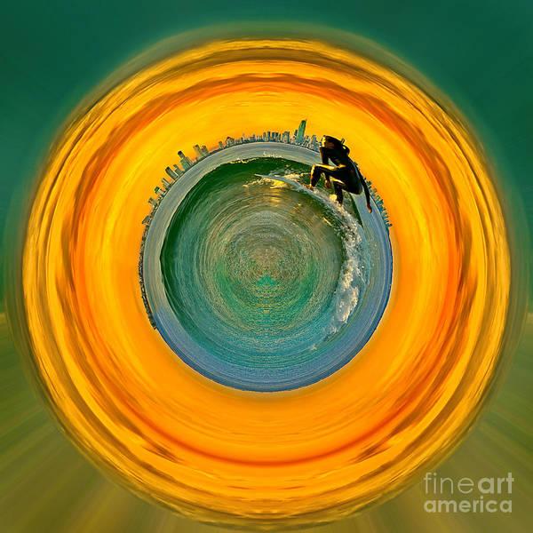 Gold Coast Poster featuring the photograph Gold Coast Surfer Circagraph by Az Jackson