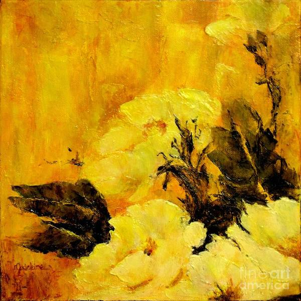 Poppies Poster featuring the painting Golden Glow by Madeleine Holzberg