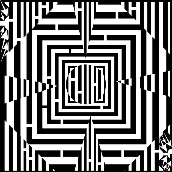 Illusion Poster featuring the drawing Good Luck Maze by Yonatan Frimer Maze Artist