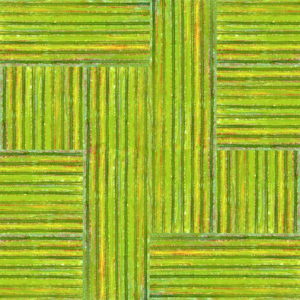 Textured Poster featuring the painting Grassy Green Stripes by Michelle Calkins