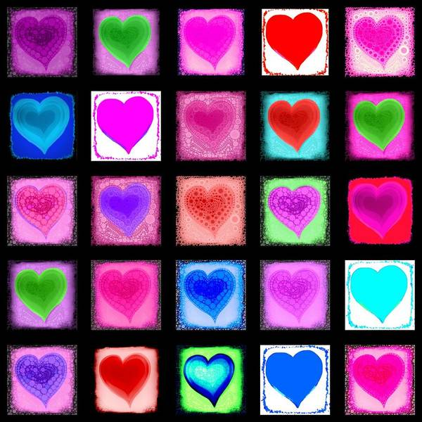 Heart Poster featuring the digital art Heart Collage by Cindy Edwards
