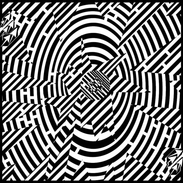 Higgs Poster featuring the drawing Higgs Boson Reaction Implosion Maze by Yonatan Frimer Maze Artist