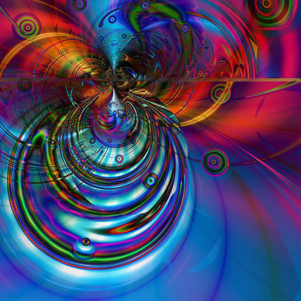Abstract Poster featuring the digital art High Tide by Kiki Art