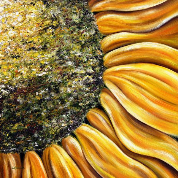Sun Flower Poster featuring the painting Himawari by Hiroko Sakai