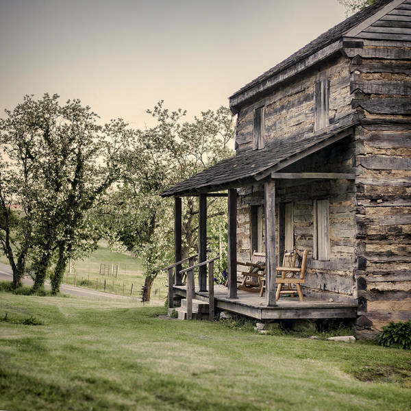 Log Cabin Poster featuring the photograph Homestead At Dusk by Heather Applegate