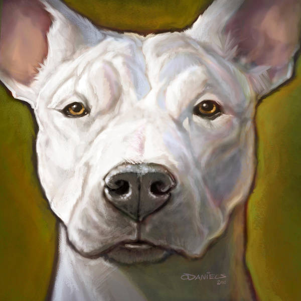 Dog Poster featuring the painting Honor by Sean ODaniels