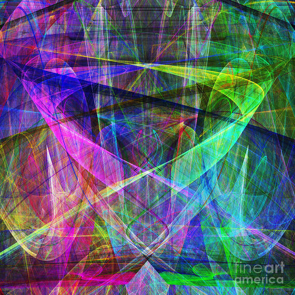 Fractal Poster featuring the digital art Hope 20130511 Square by Wingsdomain Art and Photography