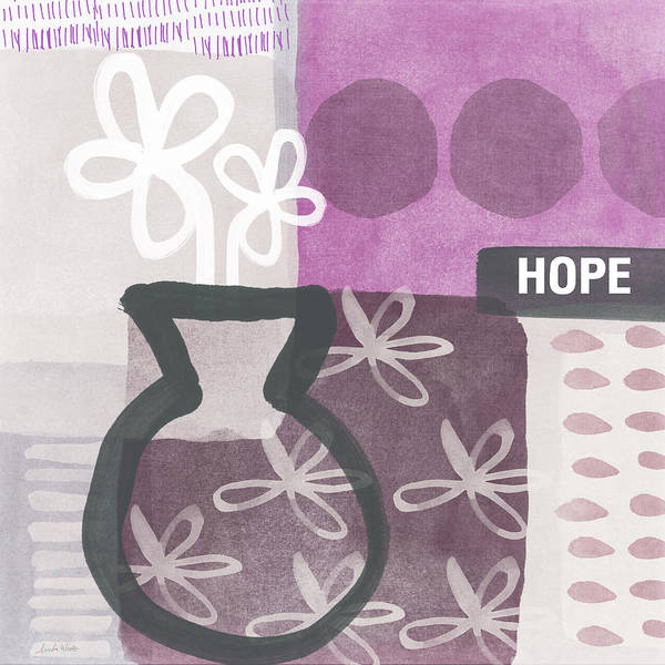 Hope Poster featuring the mixed media Hope- Contemporary Art by Linda Woods