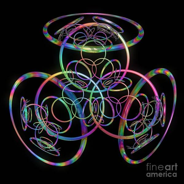 Rings Poster featuring the digital art Hula Hoops by Sara Raber