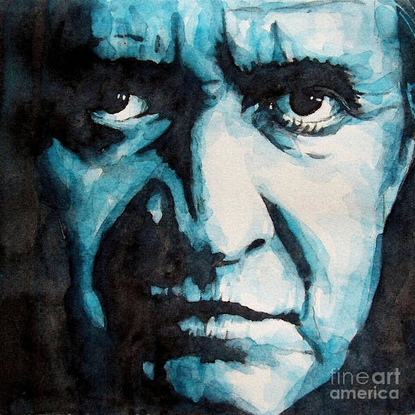 Johnny Cash Poster featuring the painting Hurt by Paul Lovering