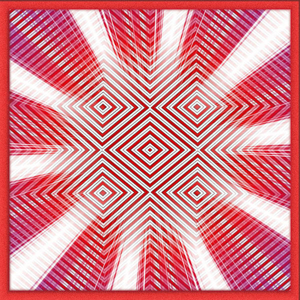 Squares And Rectangles Poster featuring the digital art Hypnotic Vision by Mario Carini