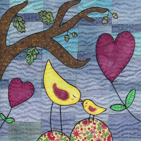 Boho Chic Poster featuring the tapestry - textile I Love You by Julie Bull
