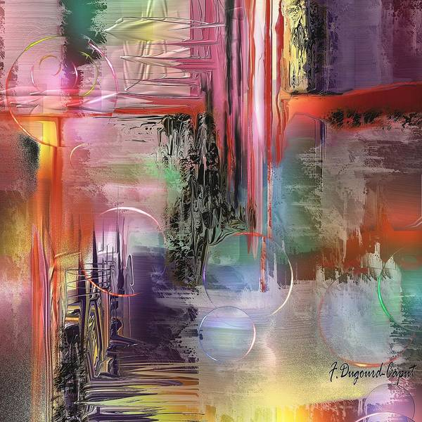 Abstract Poster featuring the painting Imperissable by Francoise Dugourd-Caput