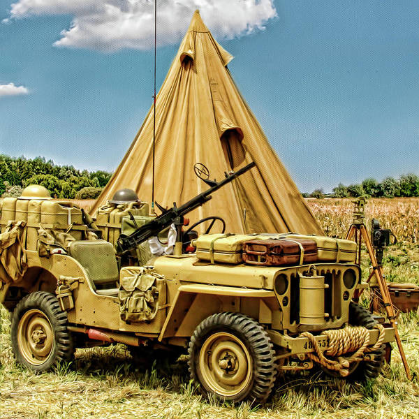 Jeep Poster featuring the photograph In The Field by Dale Jackson
