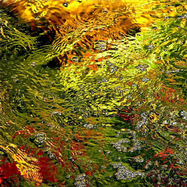 Abstract Poster featuring the photograph In The Flow 1 by Michael Durst