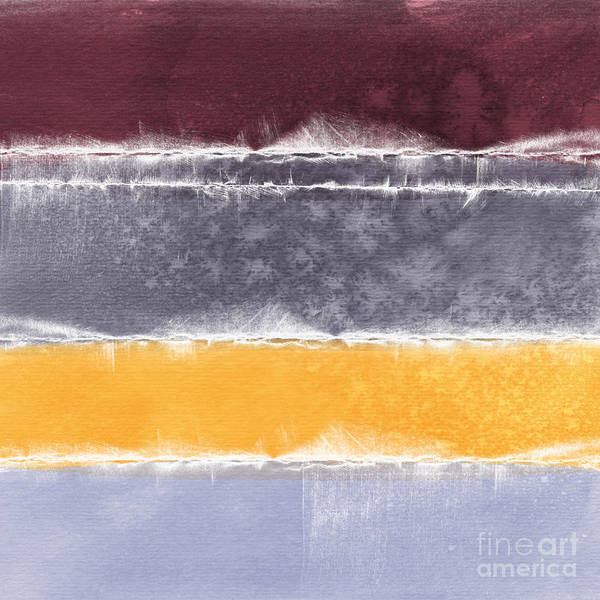 Abstract Poster featuring the painting Indian Summer by Linda Woods