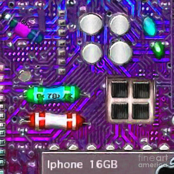 Circuit Board Poster featuring the photograph Iphone I-art P128 Square by Wingsdomain Art and Photography