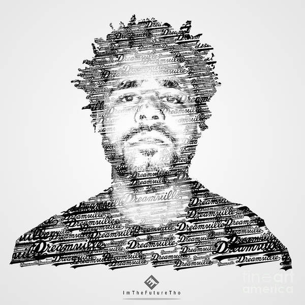Joel escamilla poster featuring the digital art j cole x dreamville x imthefuturetho by joel