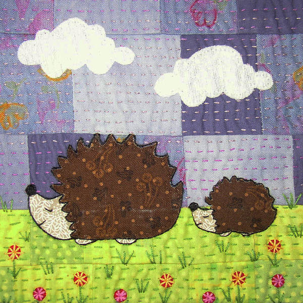 Whimsical Poster featuring the tapestry - textile Just Following Our Noses by Julie Bull