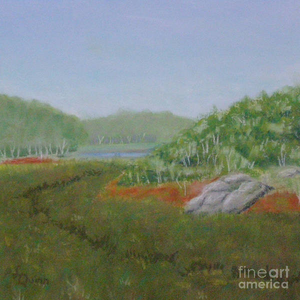 Landscape Poster featuring the painting Kantola Swamp by Lynn Quinn