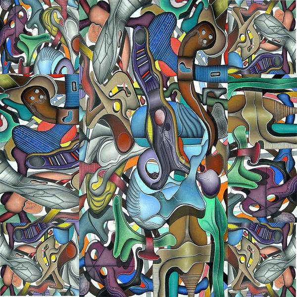 Abstract Poster featuring the pastel Kieko Alteration by George Curington