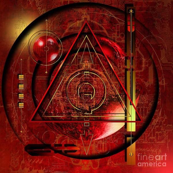 Highly Imaginative Poster featuring the digital art King Crimson by Franziskus Pfleghart
