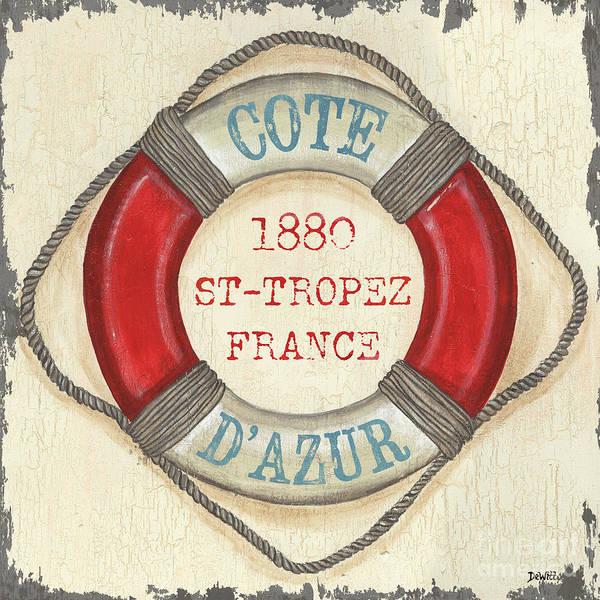 Coastal Poster featuring the painting La Mer Cote D'azur by Debbie DeWitt
