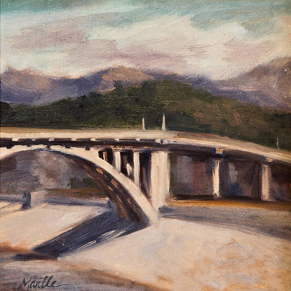 Los Angeles River Poster featuring the painting La Wash by Athena Mantle