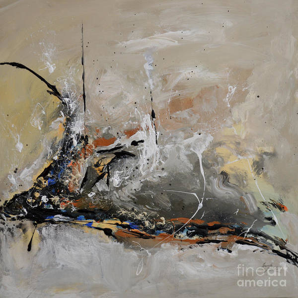 Limitless Poster featuring the painting Limitless - Abstract Painting by Ismeta Gruenwald