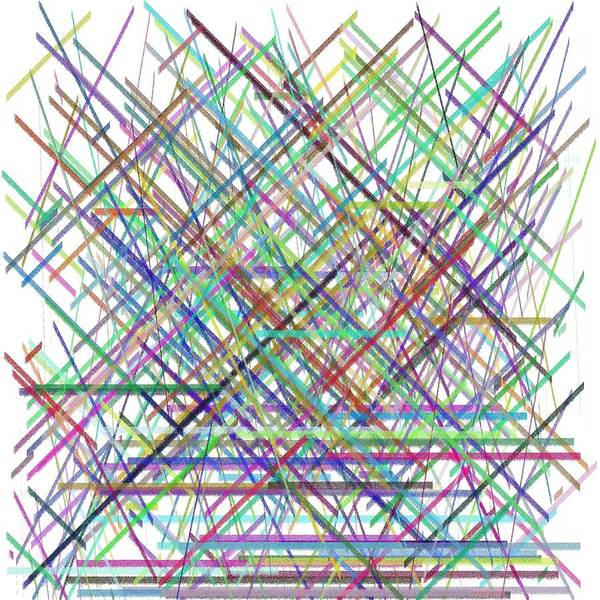 Abstract Digital Algorithm Rithmart Poster featuring the digital art Lines.3 by Gareth Lewis