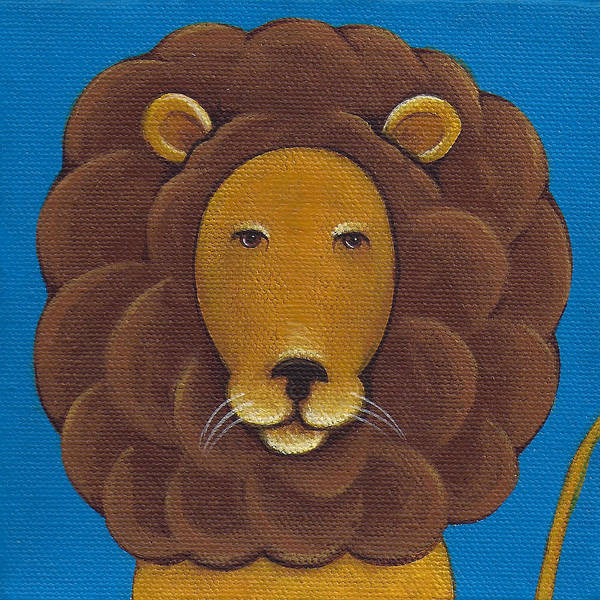 Lion Poster featuring the painting Lion by Christy Beckwith
