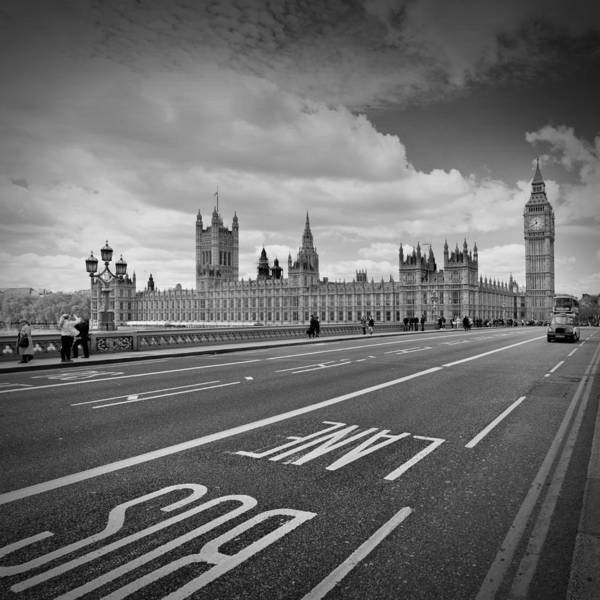 British Poster featuring the photograph London - Houses Of Parliament by Melanie Viola