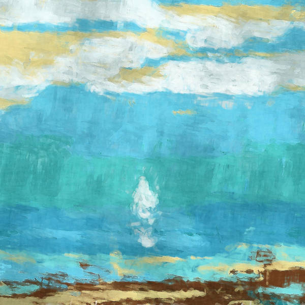 Sail Poster featuring the digital art Lone Sail by David G Paul