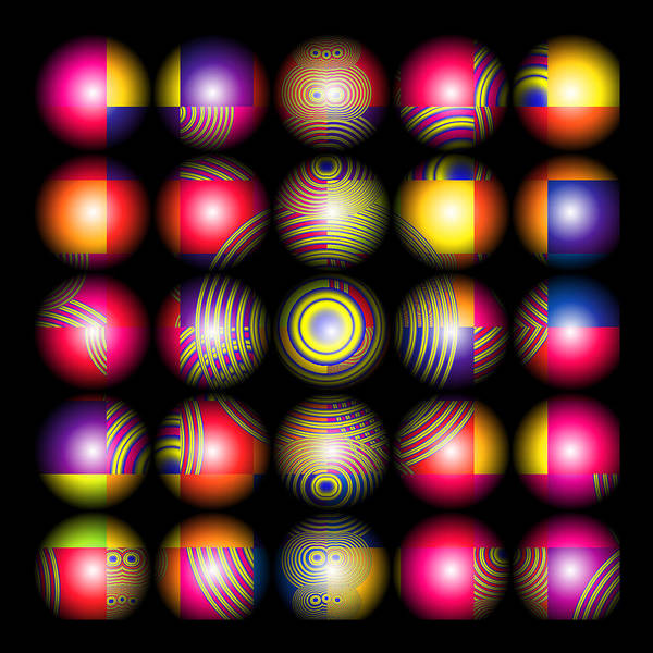 Marbles Poster featuring the digital art Lost My Marbles by Wendy J St Christopher