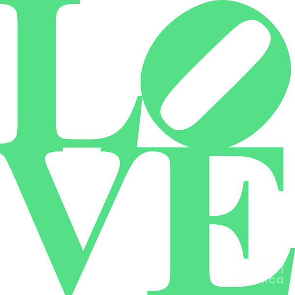 Love Poster featuring the digital art Love 20130707 Green White by Wingsdomain Art and Photography