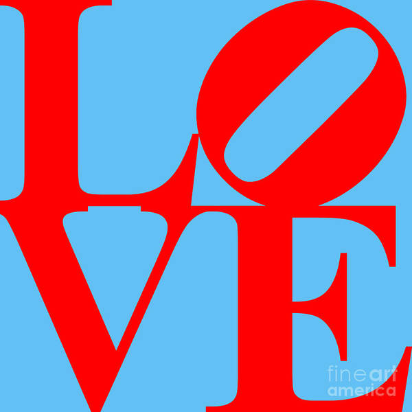 Love Poster featuring the digital art Love 20130707 Red Blue by Wingsdomain Art and Photography