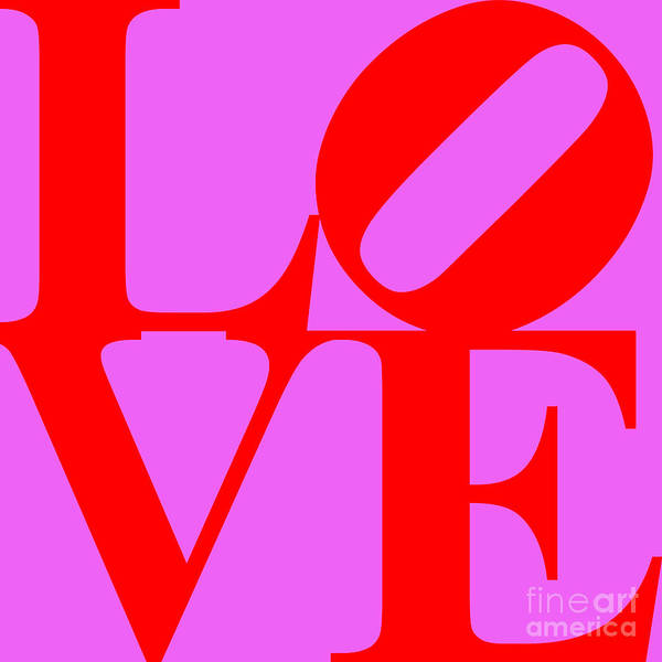 Love Poster featuring the digital art Love 20130707 Red Violet by Wingsdomain Art and Photography