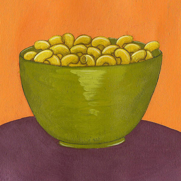 Yellow Poster featuring the painting Macaroni And Cheese by Christy Beckwith
